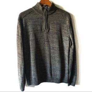 Structure 1/4 zip mock neck sweater size XXL